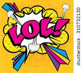 "pop art comics icon ""lol "".... 