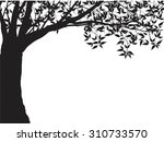 tree silhouette isolated on...   Shutterstock .eps vector #310733570