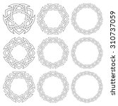 set of magic knotting circles.... | Shutterstock .eps vector #310737059