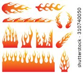 flame decals. great for vehicle ... | Shutterstock .eps vector #310740050