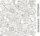 back to school seamless pattern ... | Shutterstock .eps vector #310743644