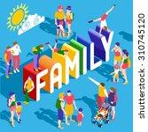 isometric family vector child... | Shutterstock .eps vector #310745120