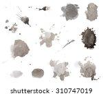 black ink splashes in... | Shutterstock . vector #310747019