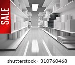 shopping mall with products on... | Shutterstock . vector #310760468