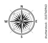 vintage wind rose isolated... | Shutterstock .eps vector #310760963