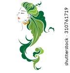 Abstract Hair Style Icon  Logo...