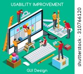 ux user experience development... | Shutterstock .eps vector #310766120