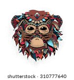 vector illustration of a monkey ... | Shutterstock .eps vector #310777640