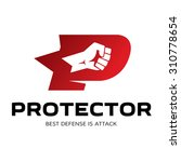 letter p logo protection | Shutterstock .eps vector #310778654