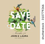 vintage save the date... | Shutterstock .eps vector #310779266