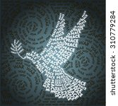 dove of peace in the words... | Shutterstock .eps vector #310779284