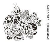 doodles  zentangle stylized ... | Shutterstock .eps vector #310779599