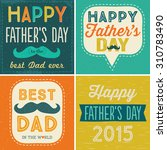 set of four typographic cards... | Shutterstock .eps vector #310783490