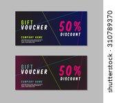 voucher template with premium... | Shutterstock .eps vector #310789370