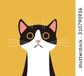 flat design  cat face with... | Shutterstock .eps vector #310790936