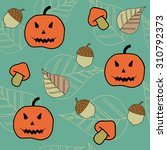 autumn halloween seamless... | Shutterstock .eps vector #310792373