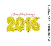 the coming year of the monkey... | Shutterstock .eps vector #310795946