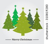 greeting christmas and new year.... | Shutterstock .eps vector #310819280