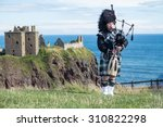 traditional scottish bagpiper... | Shutterstock . vector #310822298