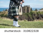 traditional scottish bagpiper... | Shutterstock . vector #310822328