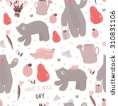 cute pattern with forest... | Shutterstock .eps vector #310831106