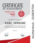 vertical certificate template ...   Shutterstock .eps vector #310839704