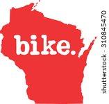 wisconsin bike state vector sign   Shutterstock .eps vector #310845470
