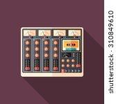 retro sound recorder flat... | Shutterstock .eps vector #310849610