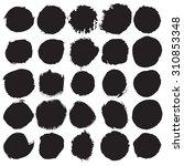 grunge paint circle vector...   Shutterstock .eps vector #310853348