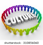 culture 3d word surrounded by... | Shutterstock . vector #310856060