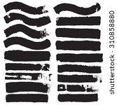 grunge edges vector set .... | Shutterstock .eps vector #310858880