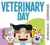 veterinary surrounded by animals | Shutterstock .eps vector #310860668