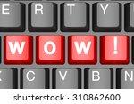 wow button on modern computer...   Shutterstock . vector #310862600