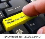 new opportunities yellow button ... | Shutterstock . vector #310863440