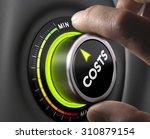 man fingers setting cost button ... | Shutterstock . vector #310879154