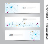vector design banner network... | Shutterstock .eps vector #310880078