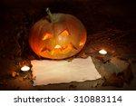 Scary Halloween Pumpkin And Ol...