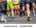blurred background  marathon...   Shutterstock . vector #310890584
