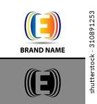 abstract letter e logo creative ... | Shutterstock .eps vector #310891253