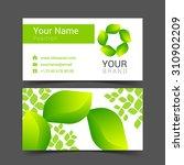 business cards design leaves... | Shutterstock .eps vector #310902209