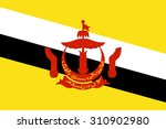 flag of brunei darussalam.... | Shutterstock .eps vector #310902980