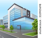 office building with the... | Shutterstock .eps vector #310905698