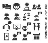 service icon set | Shutterstock .eps vector #310924100