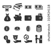 money icon set | Shutterstock .eps vector #310924118