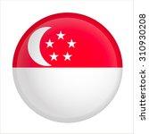 vector   singapore flag glossy... | Shutterstock .eps vector #310930208