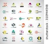 unusual icons set   isolated on ... | Shutterstock .eps vector #310944548