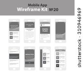 mobile app wireframe ui kit 20. ...