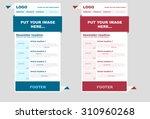 responsive newsletter template... | Shutterstock .eps vector #310960268