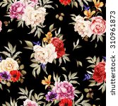 seamless floral pattern with... | Shutterstock . vector #310961873