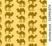 camel   dromedary seamless... | Shutterstock .eps vector #310981874